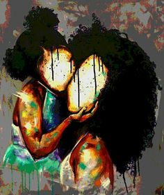 BFA Illustration from Atlanta College of Art Teacher at Pace Academy Atlanta, GA Focus: Portraits This could be my daughter and I Art Black Love, Black Girl Art, Art Girl, African American Art, African Art, Dope Kunst, Images D'art, Art Amour, Arte Black