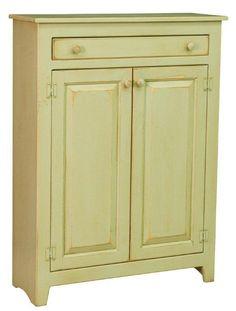 Elegant White Jelly Cabinet