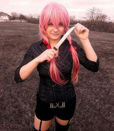 Check this amazing #cosplaymodel @levivu_ she is amazing and very talented  She is definitely one to follow show her some appreciation and follow her page  Model @levivu_  #cosplay #cosplayer #cosplays #cosplaygirl #cosplaymakeup #makeup #animeart #art #yuno #yunogasai #gasaiyuno #yunogasaicosplay #mirainikki #artist #anime #animeartist #mirainikkicosplay #pink #knife #cosplay_and_babes