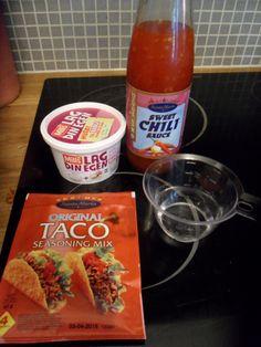 Jeg tester: Lag din egen fra Mills; Oppskrift på tacodressing (pialk) Salsa, Jar, Tips, Food, Blogging, Essen, Salsa Music, Meals, Yemek