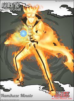 Minato Namikaze [Bijuu Mode] by Davidyf on DeviantArt Naruto Art, Naruto And Sasuke, Gaara, Naruto Shippuden, Otaku Mode, Narusaku, Ghost In The Shell, Awesome Anime, Anime Shows