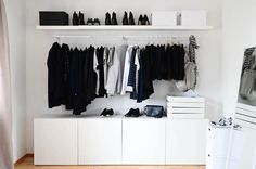 Ikea open wardobe / mulig / besta / Lack www.todayis.de (Interior Diy Ideas)