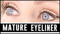 How To Apply Eyeliner To Mature Eyes #EyelinerForBeginners Applying Eye Makeup, How To Apply Eyeshadow, All Natural Makeup, Natural Eyeliner, Winged Eyeliner, Eyeliner Techniques, Under Eye Makeup, Makeup For Older Women, Eyeliner For Beginners