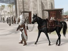 Damascus. Altair. Assassin's Creed.