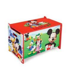 Mickey Mouse baúl infantil de madera. Guarda juguetes. 12TB84877MM