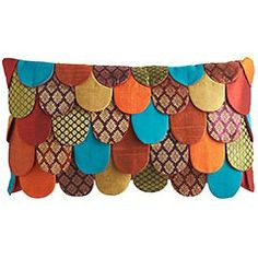 *Love* this Layered Petals Pillow from Pier 1! $24.95