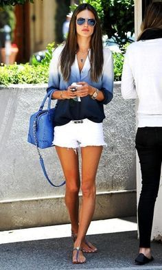 Perfect mix-up: formal blazer over a filmy top and casual jean ...