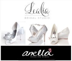Lealia Bridal Studio is a proud stockist of Anella Wedding shoes.  Anella Wedding shoes are manufactured by the largest bridal shoe company in the world, therefore we ensure your shoes are of top quality and crafted for absolute comfort.  You are an individual with a specific style or look you wish to achieve; in achieving this aim, we advise on sizing, fit, colour and style based on your theme and personality to help you find the perfect shoe to make you feel and look fabulo Bridal Shoes, Wedding Shoes, Shoe Company, Your Shoes, Personality, Colour, Bride, Studio, Fit