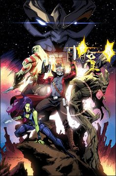 Guardians of the Galaxy by Khary Randolph, colours by Emilio J. Lopez *