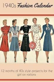 Resultado de imagem para fashion 1940