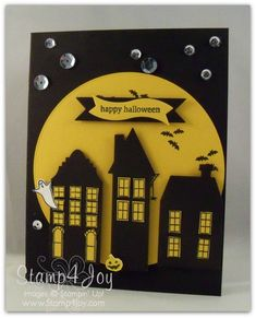 Halloween Card - SU Holiday Home - love sequins and silhouette layout - bjl