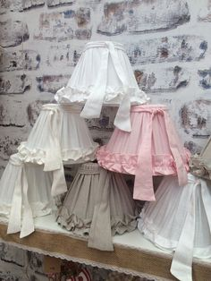 Volants abat-jour Shabby Chic en lin Style par oscarandfrench