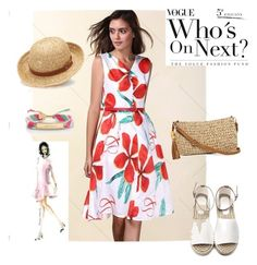 """""""Dress"""" by masayuki4499 ❤ liked on Polyvore featuring Straw Studios, Chaps and Kate Spade"""