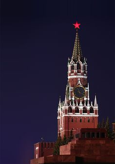Spasskaya( rescuer)  tower. Moscow.the tower was erected Pietro Antonio Solari in 1491, but crowning its tent appeared in 1625 as a result creative activity architect Bazhen Ogurtsov only and Hristofor Golovey, then on tower have installed the watch. Far from any notices that top to towers decorating whitstone figure of the fantastic beasts, reminding chimeras on Cathedral Parisian Virgin mary. That chimes, which we see on tower presently, mounted by brothers mechanical engineer Butenop in…