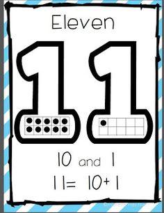 Kindergarten Stars: Common Core Aligned Teen Number Posters