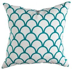 Peacock Scallop Pillow eclectic pillows