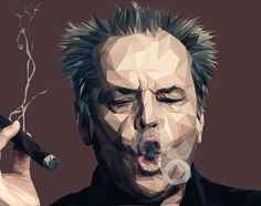 Jack Nicholson by Paul Douard  35 Outstanding Low Poly Art Illustrations