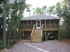 Walk to the Beach and Enjoy Secluded Surroundings of this Enchanted Beach House Vacation Rental in Dauphin Island from @homeaway! #vacation #rental #travel #homeaway