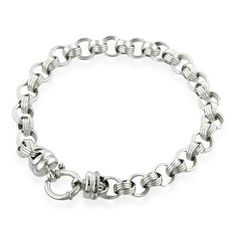 "Sterling Silver 7.5"" Fancy Link Bracelet Netaya. $39.95. Save 61% Off!"