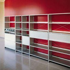 Aluminium shelves by Lehni | Office shelving systems