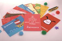 Zaproszenia Urodzinowe Kids Party Invitations  www.SweetPrint.pl