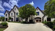 A beautiful French Chateaux style home was designed by luxury home builder Simmons Estate Homes, located in Southlake, a suburb of Dallas-Ft. Stone Exterior Houses, Dream House Exterior, Dream House Plans, Stone Houses, House Exteriors, Exterior Trim, Exterior Colors, Luxury Homes Dream Houses, Dream Homes