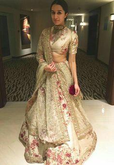 Shraddha Kapoor wearing Sabyasachi