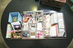 "Organizing ""Project Life"" or Smash book accessories."