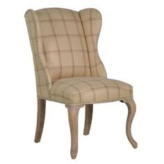 Country Tartan Upholstered Chair