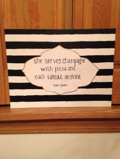 Kate Spade Quotes Kate Spade Quote Glitter Canvascrimsonpearls On Etsy  Canvases .