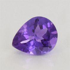 1.71 ct 9.3x7.6x5 mm AAA+ Pear Loupe Clean Purple Amethyst