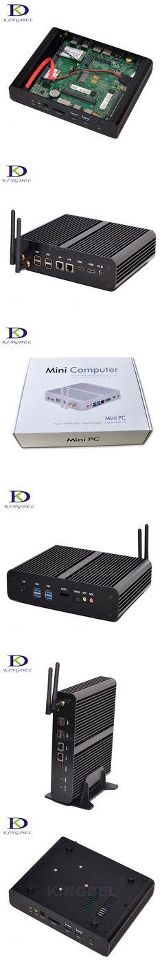 16GB RAM 256GB SSD 1TB HDD Dual Lan Fanless Mini PC Intel Core i7 4500u Mini-ITX Desktop Computer 3D Gaming PC