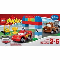 Disney Pixar Cars Classic Race 10600 LEGO Duplo Ages 2 to 5 Hrs of Fun Building #LEGO