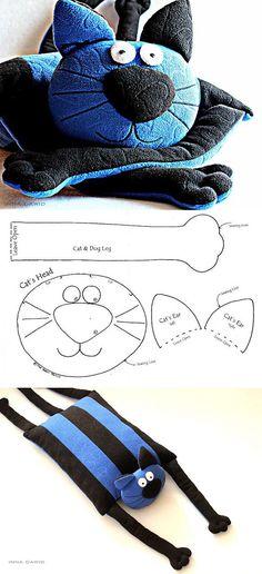 Подушка-кот 'Интериста' - Ярмарка Мастеров - ручная работа, handmade