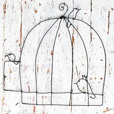 wire cage and birds by WireDreams on Etsy