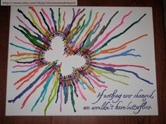 Butterfly - Cool Melted Crayon Art Ideas, http://hative.com/cool-melted-crayon-art-ideas/,