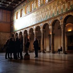 Basilica Di S. Apollinare Nuovo. Ravenna tour group. I love this shot. - Instagram by @Kate McCulley