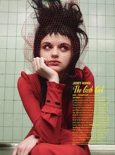 "Set Designer Peter Klein works Teen Vogue October 2013 Young Hollwood for ""Fright Night"" shot by Dan Jackson."