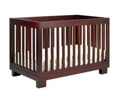 Babyletto Espresso Modo 3-in-1 Convertible Crib with Toddler Rail