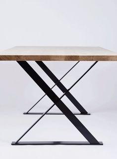 American Oak or Elm Dining Table w/ steel legs Pond-Pond shop (Au) 2.8m L X 1m W