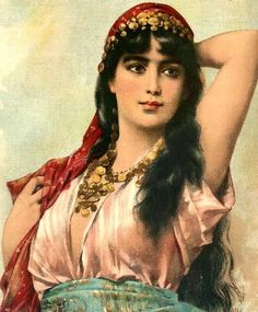 Gypsy inspiration. I love the coin necklace and head piece.