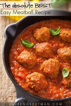 Easy Meatballs Recip