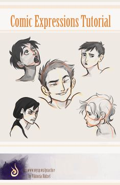 Comic expressions tutorial by viria13.deviantart.com on @deviantART