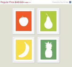 Fruit Digital Print Set   Modern by AldariArt