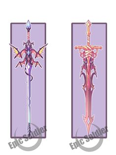 Weapons by Epic-Soldier on DeviantArt Fantasy Sword, Fantasy Weapons, Fantasy Art, Armes Futures, Sword Design, Anime Weapons, Susanoo, Weapon Concept Art, Anime Outfits