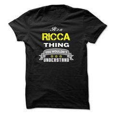 Its a RICCA thing. - #shirt fashion #tee dress. LIMITED AVAILABILITY => https://www.sunfrog.com/Names/Its-a-RICCA-thing-924B3F.html?68278