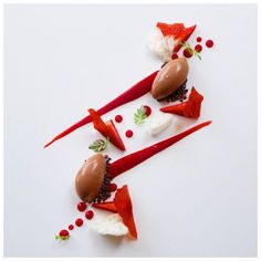 Got just the perfect thing to hit that sweet spot! Chocolate Sorbet, Chocolate Art, Cacao Chocolate, Plate Presentation, Cocoa Nibs, Pastry Art, Strawberry Sauce, Baking And Pastry, Food Plating