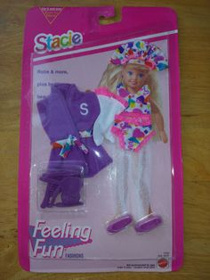 Mattel 1993 Stacie Doll Outfit Feeling Fun Fashions Bedtime NEW SEALED #ClothingShoes
