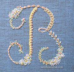 Floral alphabet - needlenthread.com