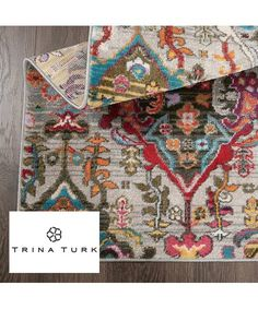Trina Turk Gray & Red Chanel Melody Rug | Zulily